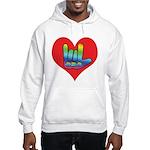 I Love Mom Inside Big Heart Hooded Sweatshirt