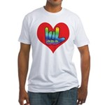 I Love Mom Inside Big Heart Fitted T-Shirt