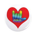 "I Love Mom Inside Big Heart 3.5"" Button (100"