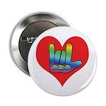 "I Love Mom Inside Big Heart 2.25"" Button (100"