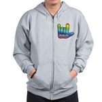 I Love Mom Big Hand Zip Hoodie
