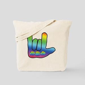 I Love Mom Big Hand Tote Bag