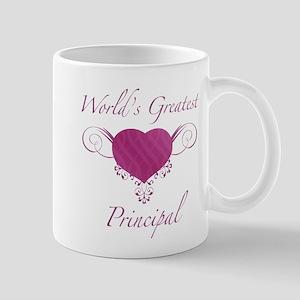World's Greatest Principal (Heart) Mug