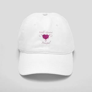 World's Greatest Principal (Heart) Cap
