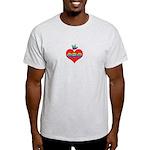 I Love Mom Inside Small Heart Light T-Shirt