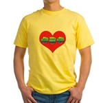 Mom Inside Big Heart Yellow T-Shirt