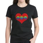 Mom Inside Big Heart Women's Dark T-Shirt