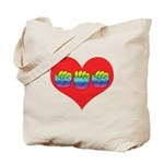Mom Inside Big Heart Tote Bag