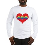 Mom Inside Big Heart Long Sleeve T-Shirt