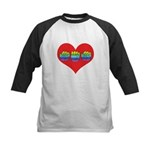 Mom Inside Big Heart Kids Baseball Jersey