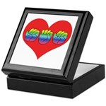 Mom Inside Big Heart Keepsake Box