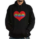 Mom Inside Big Heart Hoodie (dark)