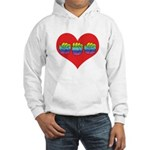 Mom Inside Big Heart Hooded Sweatshirt