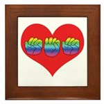 Mom Inside Big Heart Framed Tile