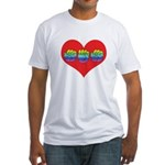 Mom Inside Big Heart Fitted T-Shirt
