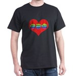 Mom Inside Big Heart Dark T-Shirt