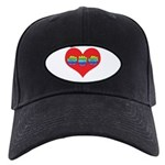 Mom Inside Big Heart Black Cap
