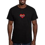 Mom Inside Small Heart Men's Fitted T-Shirt (dark)