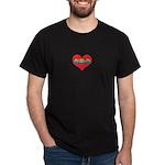 Mom Inside Small Heart Dark T-Shirt