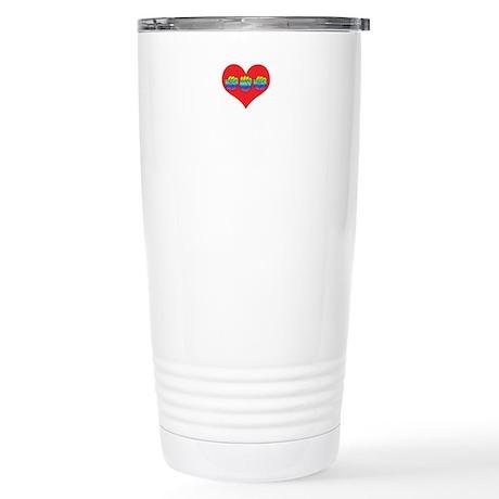 Mom Inside Small Heart Stainless Steel Travel Mug
