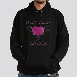 World's Greatest Librarian (Heart) Hoodie (dark)