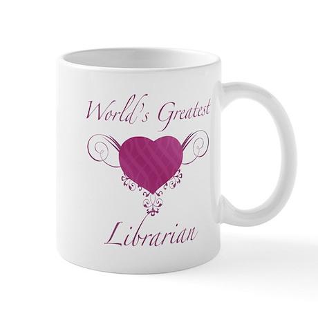 World's Greatest Librarian (Heart) Mug