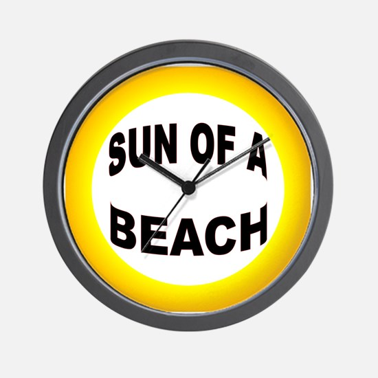 LOVE THE BEACH Wall Clock