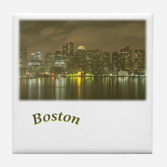 Boston-Night Tile Coaster