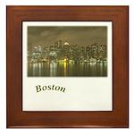 Boston-Night Framed Tile