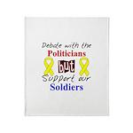 Debate Politicians Support So Throw Blanket