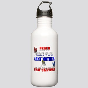 Army Wife Mother USAF Grandma Stainless Water Bott