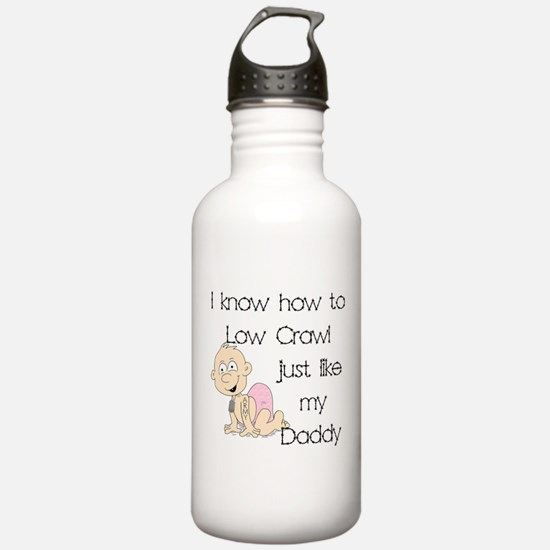 Army Low Crawl like Daddy Water Bottle