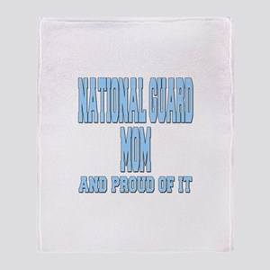 National Guard Mom Proud Throw Blanket