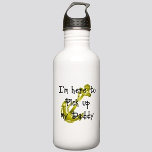Gold Navy Pick up my Daddy Stainless Water Bottle