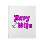 Navy Wife ver2 Throw Blanket
