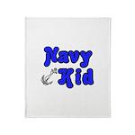Navy Kid (blue) Throw Blanket