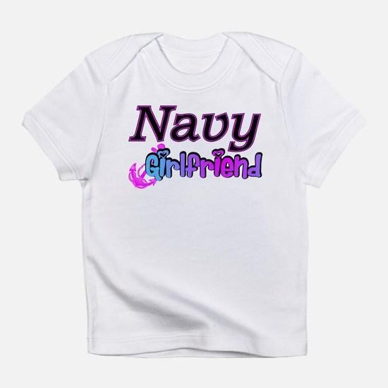 Navy Girlfriend Infant T-Shirt