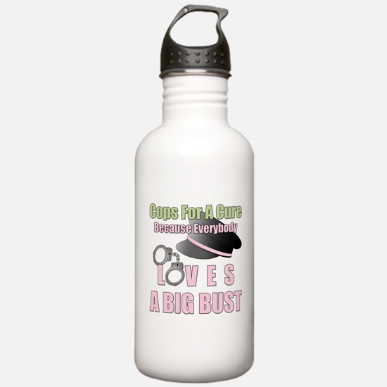 Cops for a Cure - Big Bust Water Bottle