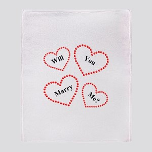 Love & Hearts Throw Blanket