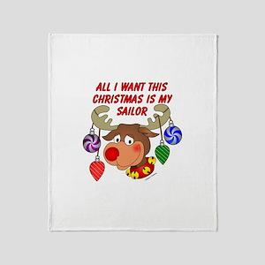 Christmas I want my Sailor Throw Blanket