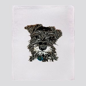 Mini Schnauzer Throw Blanket