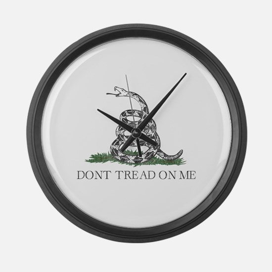 Don't Tread On Me Large Wall Clock