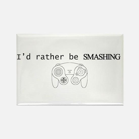 I'd rather be Smashing Rectangle Magnet