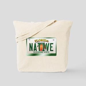 """NATIVE"" Florida License Plate Tote Bag"