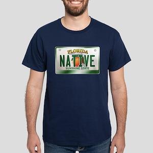 """NATIVE"" Florida License Plate Dark T-Shirt"