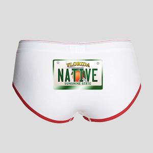 """NATIVE"" Florida License Plate Women's Boy Brief"