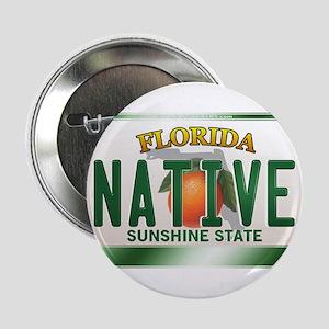 """NATIVE"" Florida License Plate 2.25"" Button"