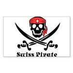 Swiss Pirate Sticker (Rectangle)