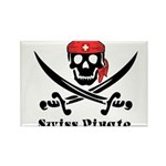 Swiss Pirate Rectangle Magnet