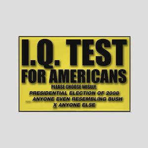 IQ Test Rectangle Magnet